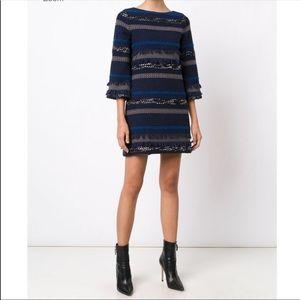 Alice + Olivia Striped Knit Dress Sz 8
